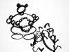 arrivée au collier de fleurs